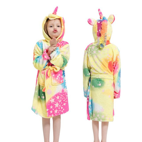 MultiColor Unicorn Bathrobe