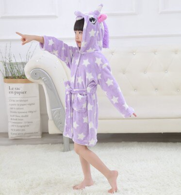 Purple Unicorn Bathrobe Child