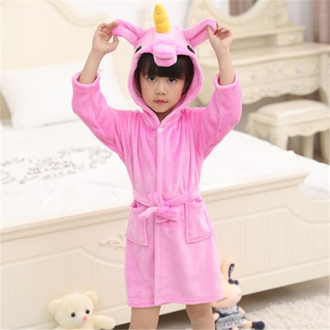 Pink Unicorn Bathrobe Child