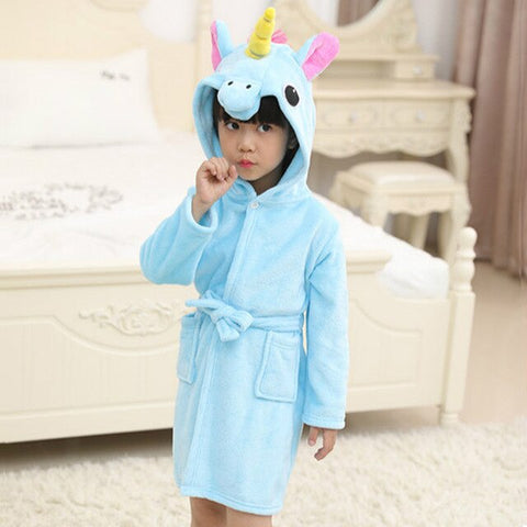 Blue Unicorn Bathrobe Child