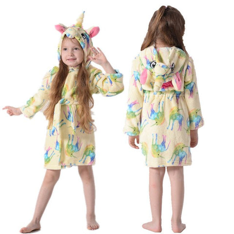 Yellow Unicorn Bathrobe