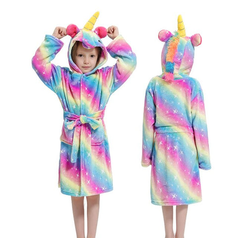 Child Unicorn Bathrobe