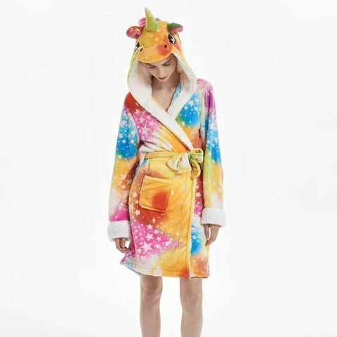 Unicorn Bathrobe ColorFul