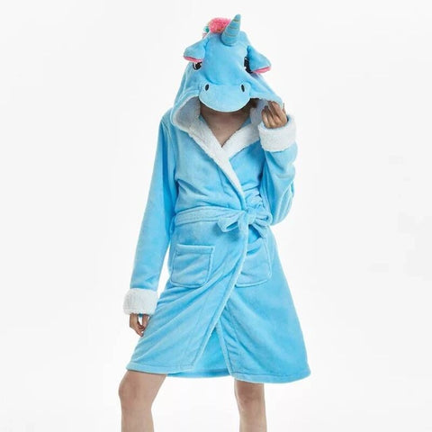 Blue Unicorn Bathrobe