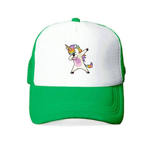 Green Baseball Unicorn Caps