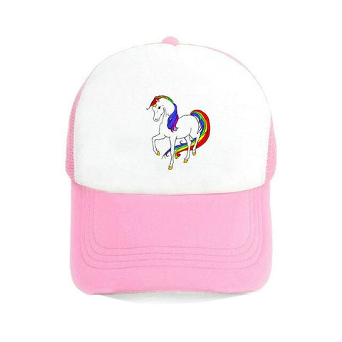 Pink Women's Unicorn Caps