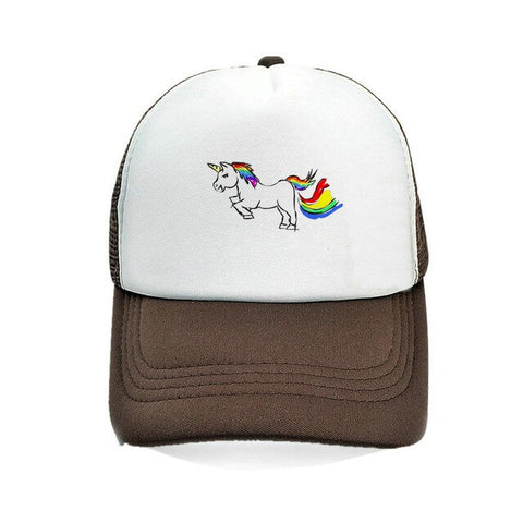 Brown Baseball Unicorn Caps