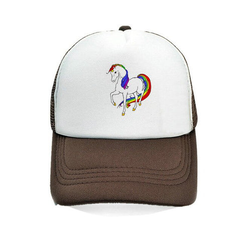 Baseball Brown Unicorn Caps