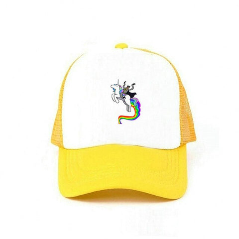 Yellow Wool Unicorn Caps