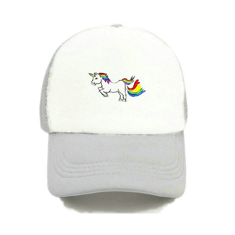 Wool Rainbow Unicorn Caps