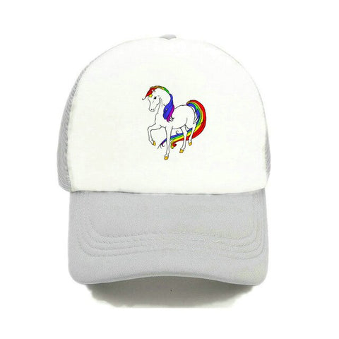 Baseball Unicorn Caps White