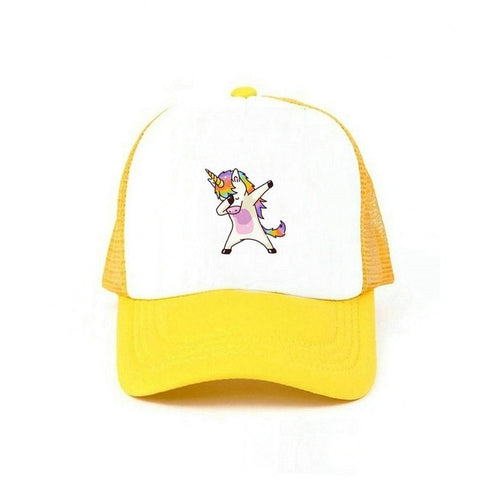Wool Yellow DAB Unicorn Caps