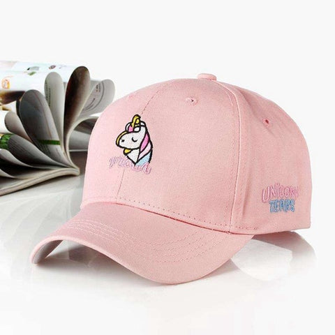 Adjustable Unicorn Caps Pink