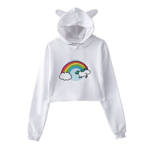 Rainbow Girly Unicorn Hoodie