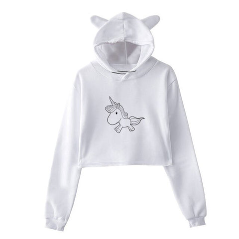 Little White Unicorn Hoodie