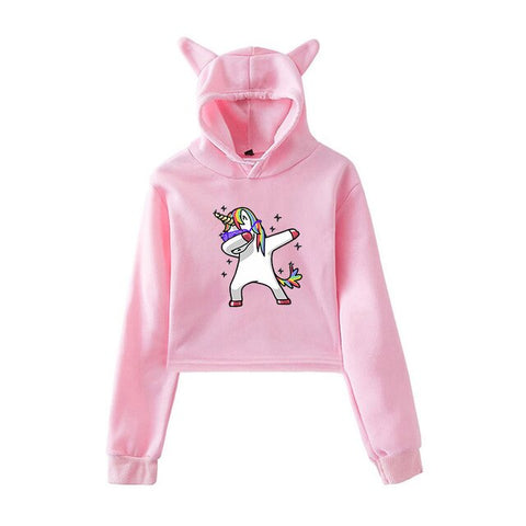 Dab Hoodies Unicorn Pink
