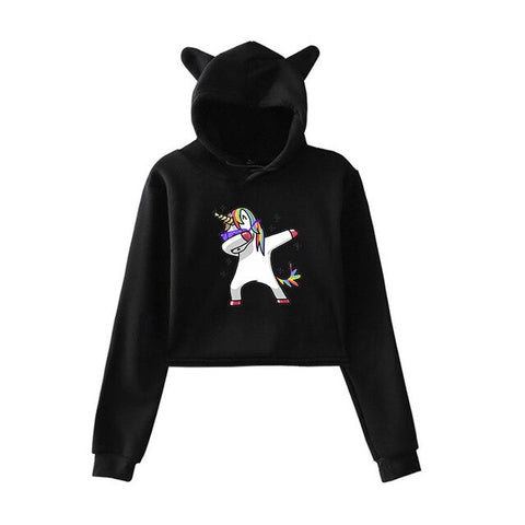 Dab Hoodies Unicorn Black