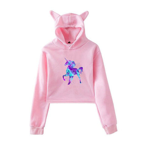 Pink Rainbow Hoodies Unicorn