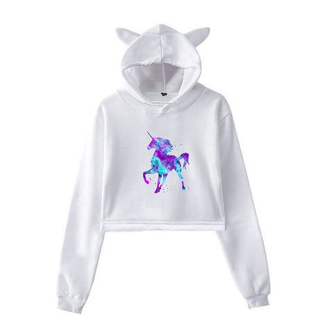 White Rainbow Hoodies Unicorn
