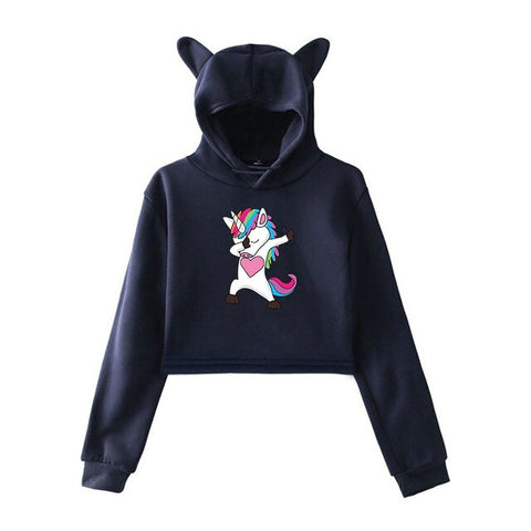 Cute Dab Hoodies Unicorn