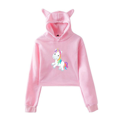 Pink Cute Hoodies Unicorn