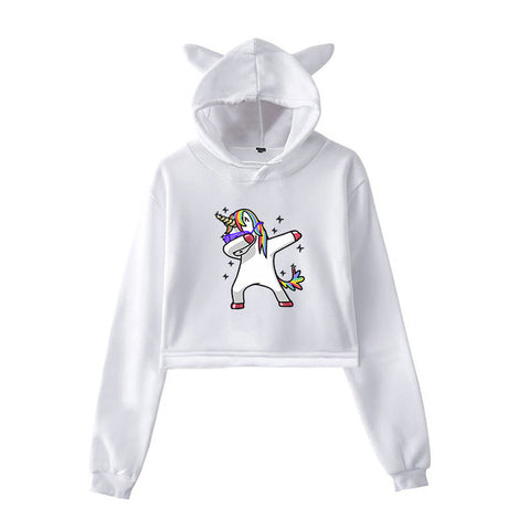 Dab Hoodies Unicorn White