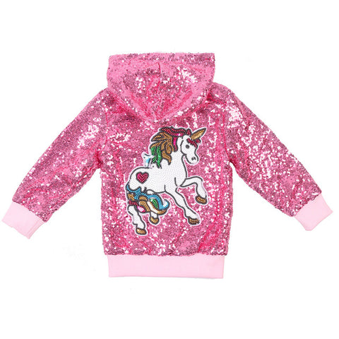 Cute Glitter Unicorn Jacket