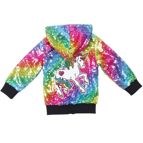Rainbow Glitter Unicorn Jacket