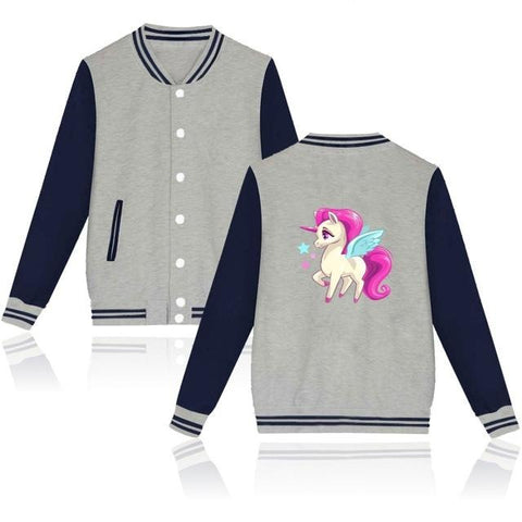 Lucky Grey Unicorn Jacket