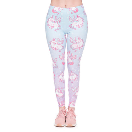 Womens Unicorn Leggings Multicolor