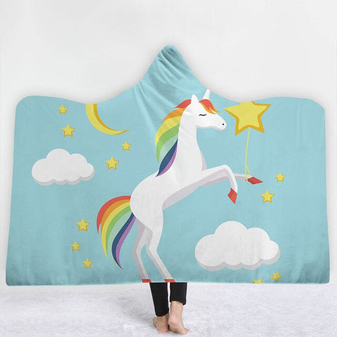 Unicorn Blue Poncho