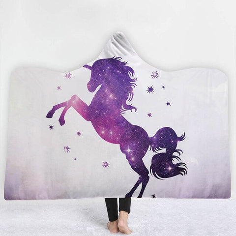 Unicorn Purple Poncho