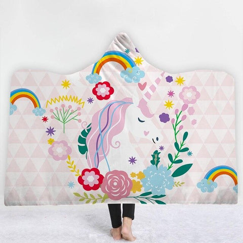 Rainbow Unicorn Poncho