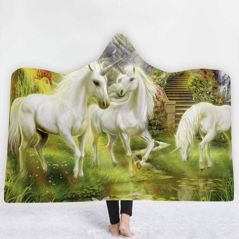 Three Unicorn Poncho
