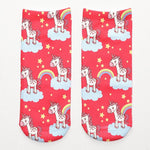 Red Unicorn Socks