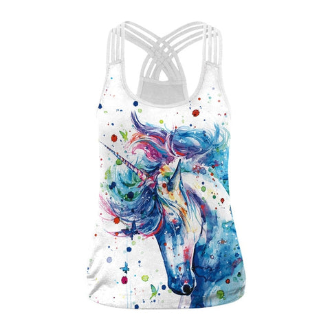Color Unicorn Tank Top Womens
