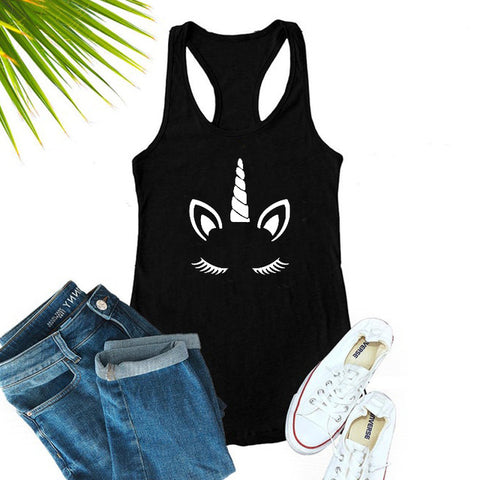 Black Tank Top Unicorn