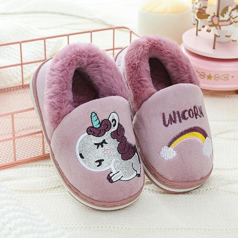 Purple Unicorn Slippers Kids