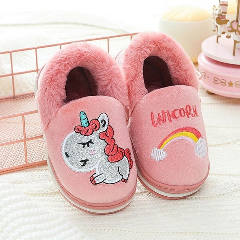 Pink Unicorn Slippers Kids