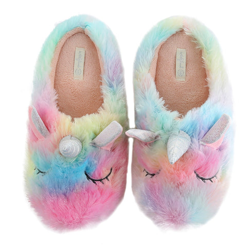 MultiColor Unicorn Slippers