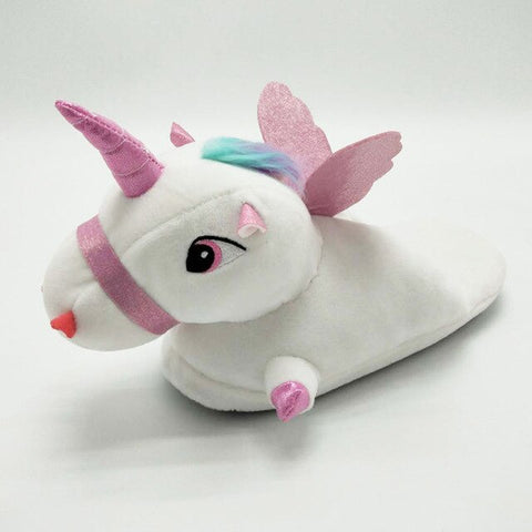 White Unicorn Slippers For Girls