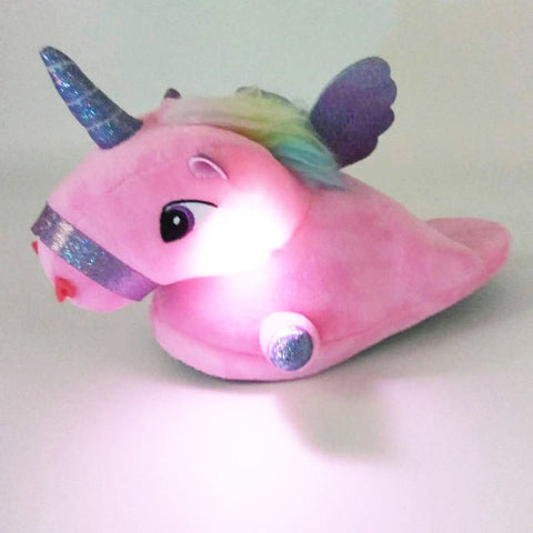 Luminous Unicorn Slippers For Girls