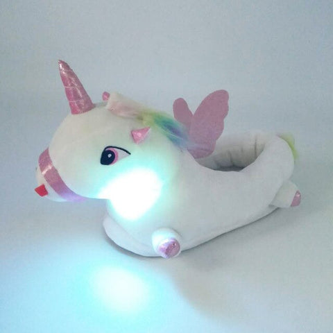 Luminous Unicorn Slippers Wommens