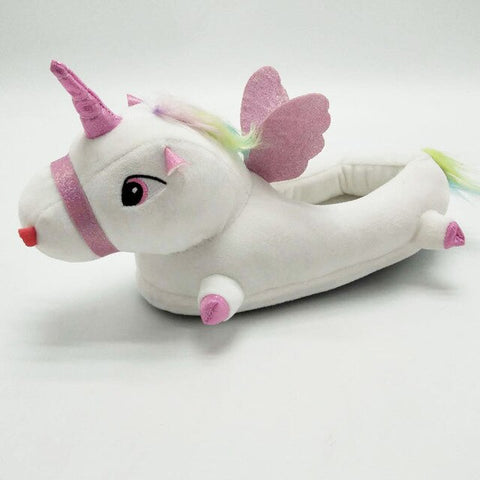 White Unicorn Slippers Wommens