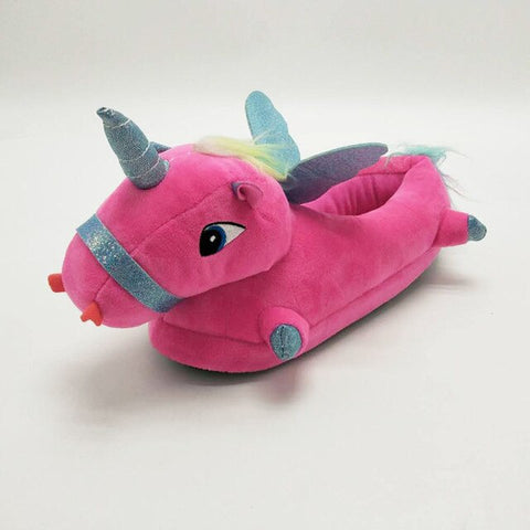 Red Unicorn Slippers
