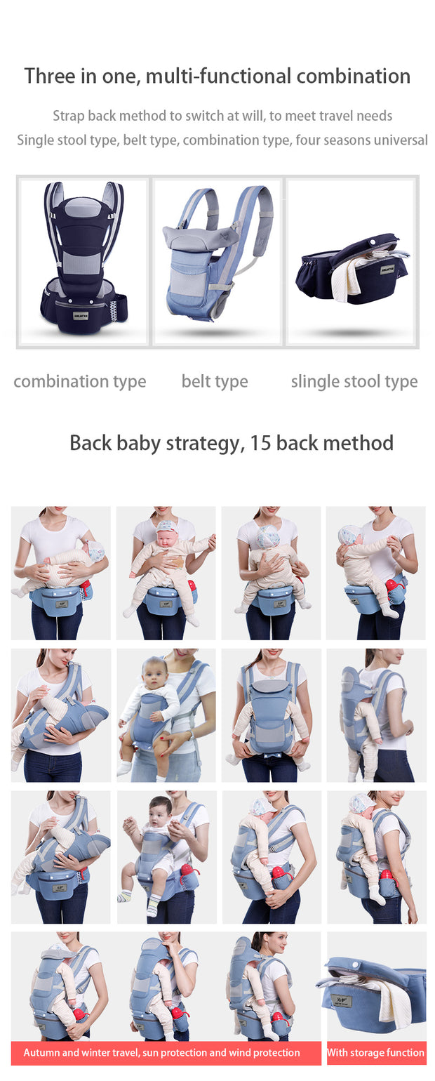 Jubilant Kids Baby Hip Carrier Seater - Baby Pink
