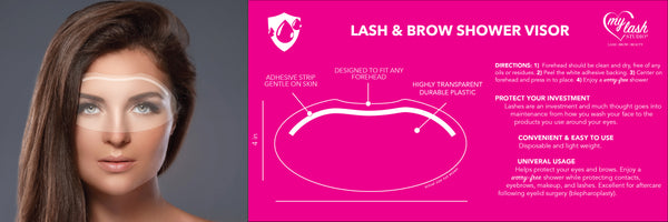 Lash & Brow Shower Visor