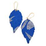 Load image into Gallery viewer, Duilleog Blue Earrings