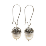 Load image into Gallery viewer, Gatsby Acorn Pearl Earrings