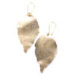 Load image into Gallery viewer, Duilleog Gold Earrings